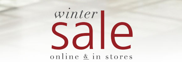 WINTER SALE - online & in stores