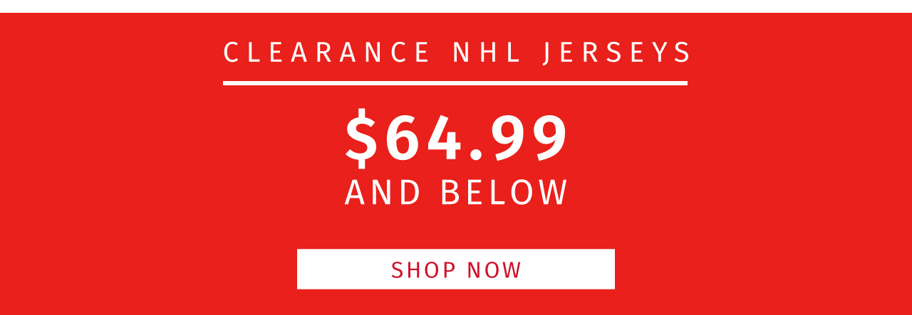 Clearance NHL Jerseys!