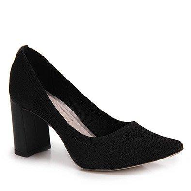 Sapato Scarpin Bico Fino Tanara - Preto