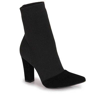 Ankle Boots Bico Fino Lara - Preto
