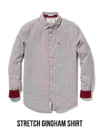 STRETCH GINGHAM SHIRT