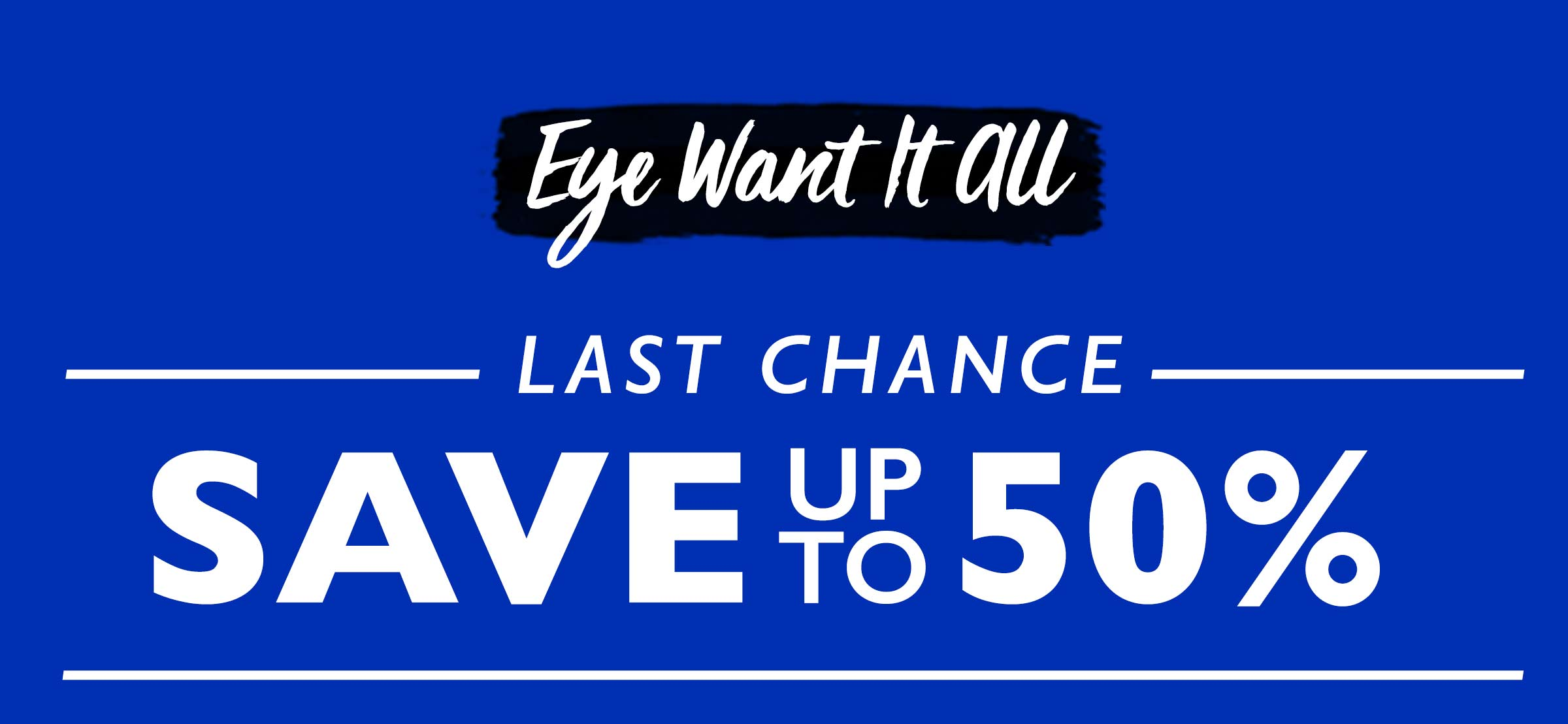 Save up to 50% on all Eyeko!