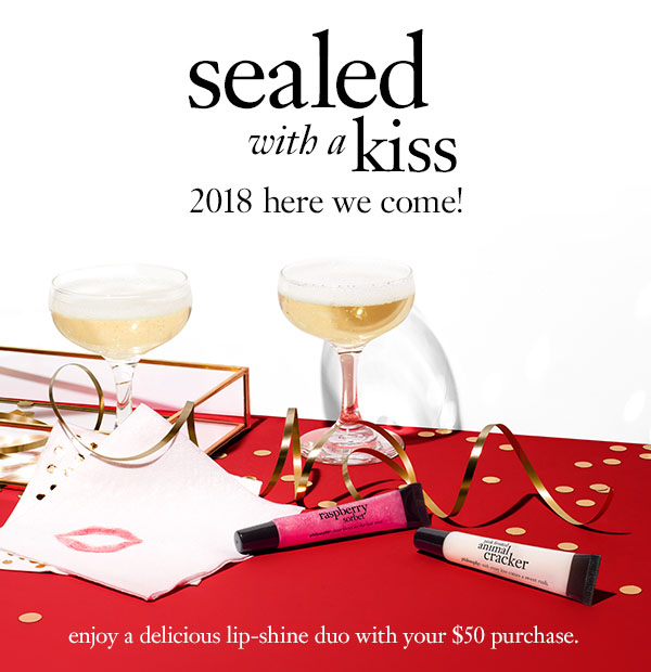 Sealed with a kiss 2018 here we come!