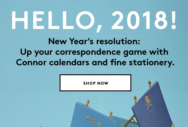 Get organized with Connor's seriously luxe calendars.