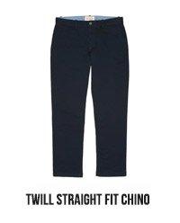 TWILL STRAIGHT FIT CHINO