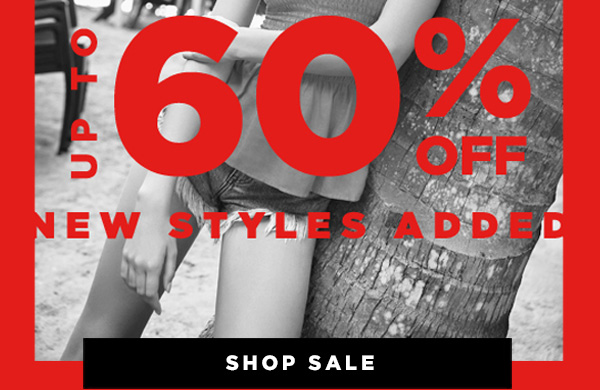 SALE UP TO 60% OFF NEW STYLES ADDED SHOP SALE