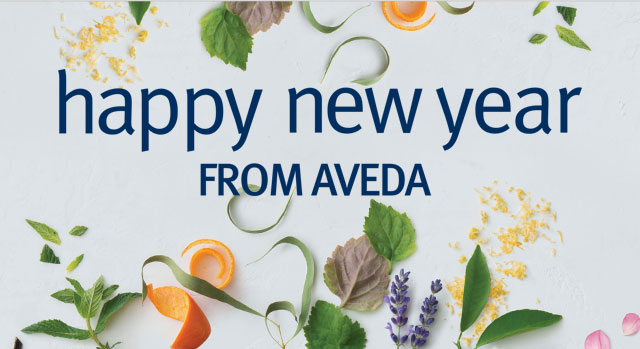 happy new year from aveda.