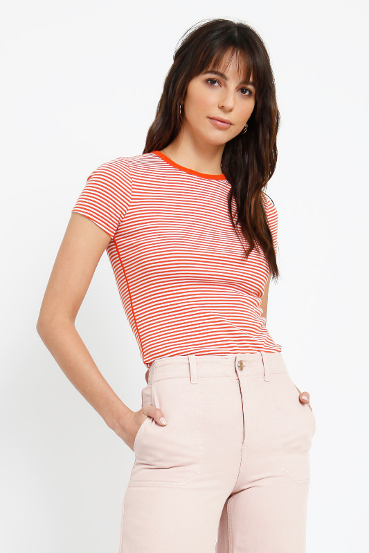 MONTAUK STRIPE CREWNECK TOP
