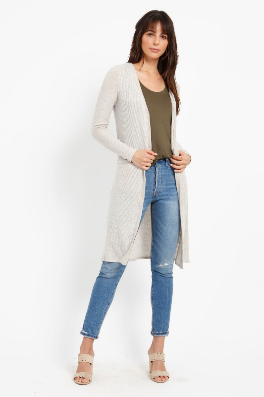 BRUSHED SWEATER LONG CARDIGAN