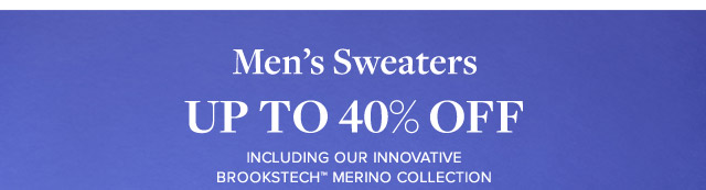 MEN'S SWEATERS UP TO 40% OFF
