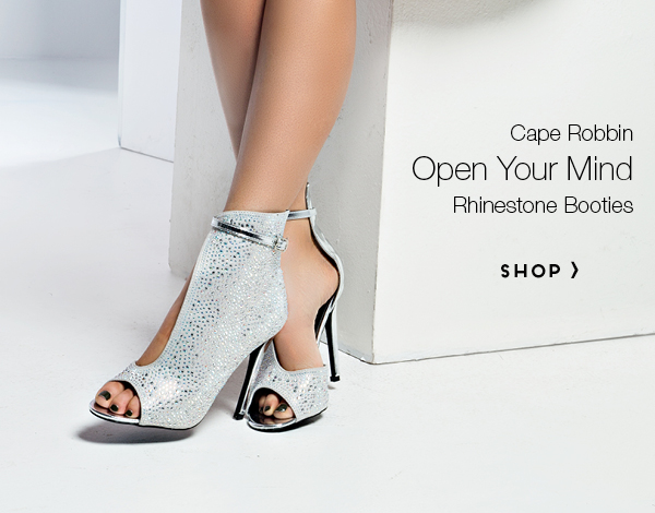 Open Your Mind Rhinestone Booties