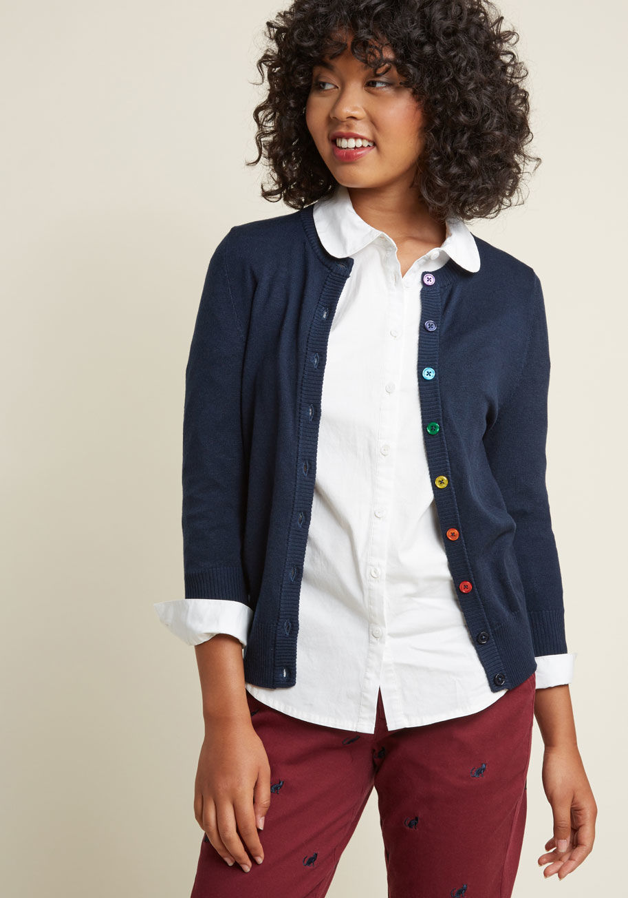 charter school crew neck cardigan