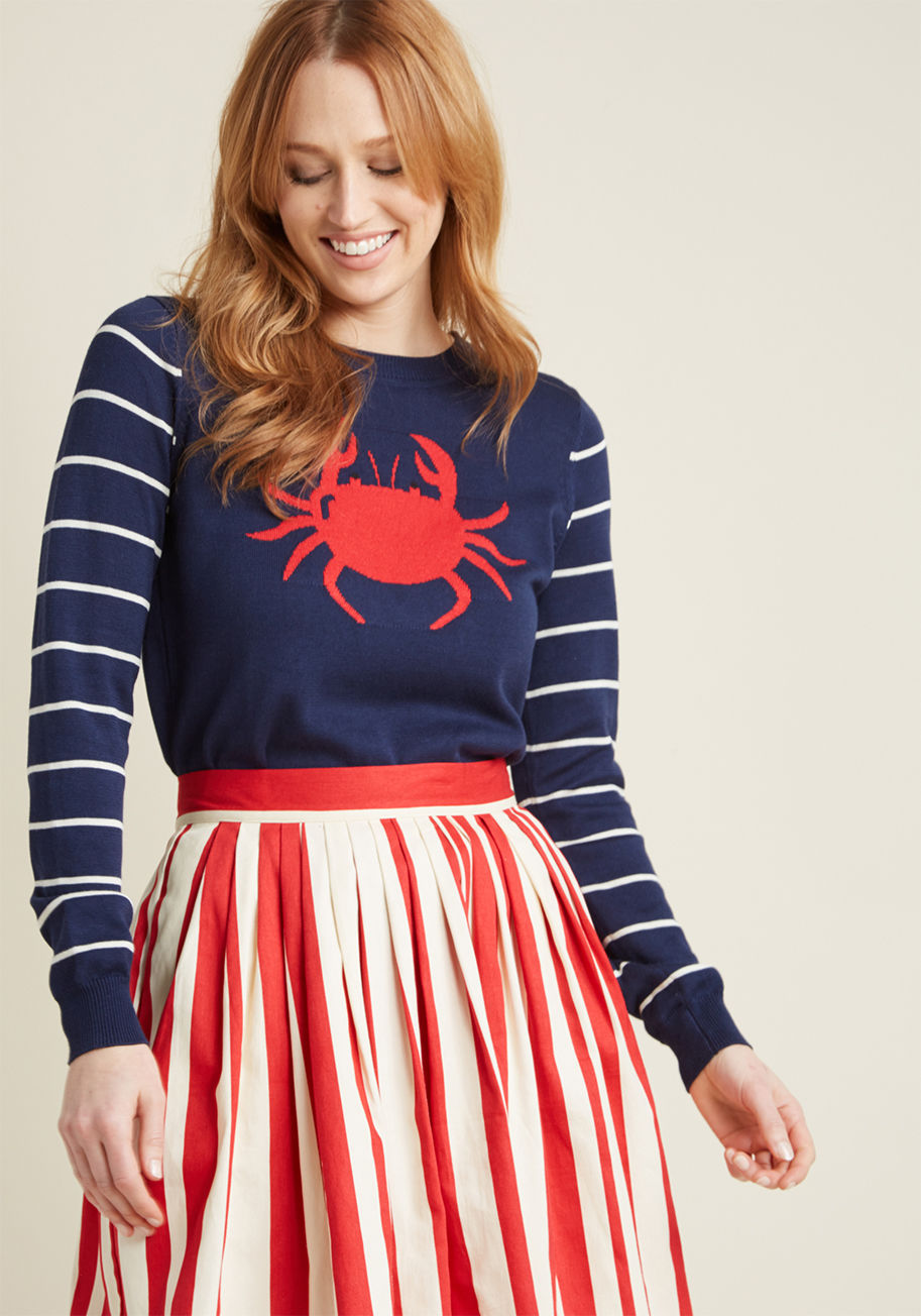 chatty crabby knit sweater