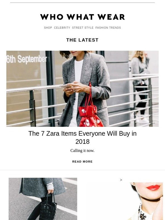 bdb97d8099d Who What Wear  The items Zara will sell out in 2018