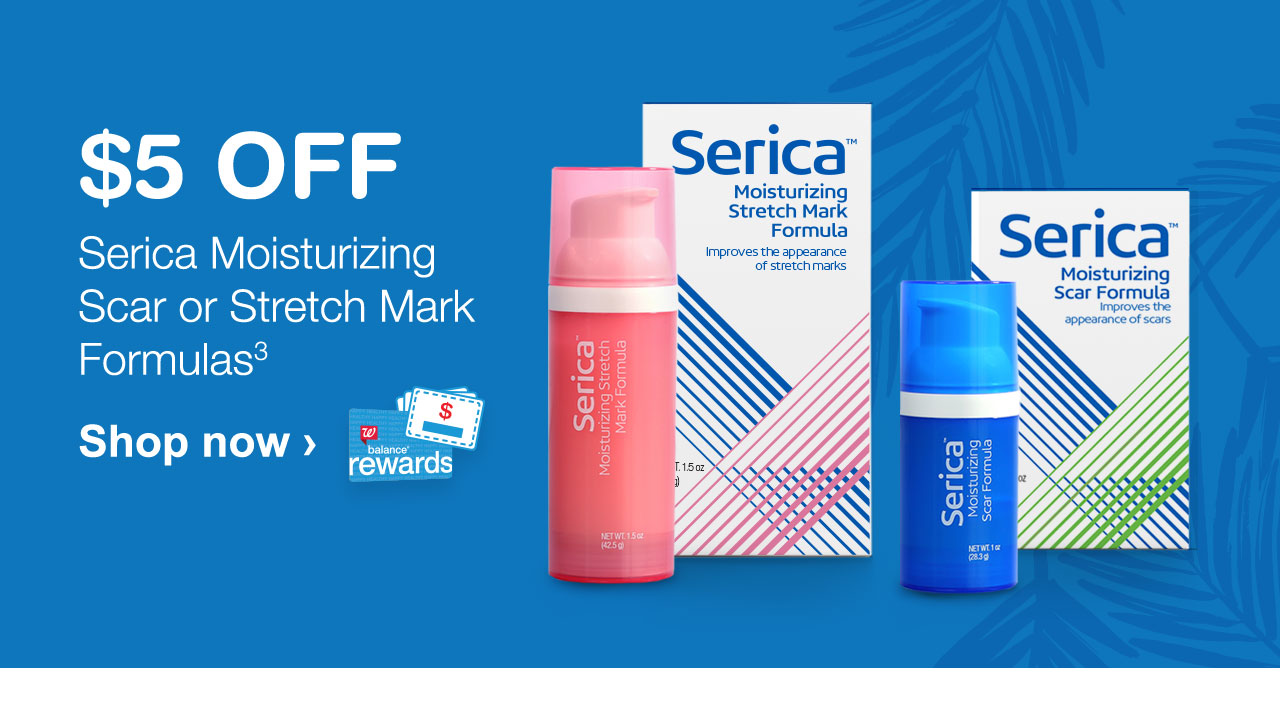 $5 OFF Serica Moisturizing Scar or Stretch Mark Formulas