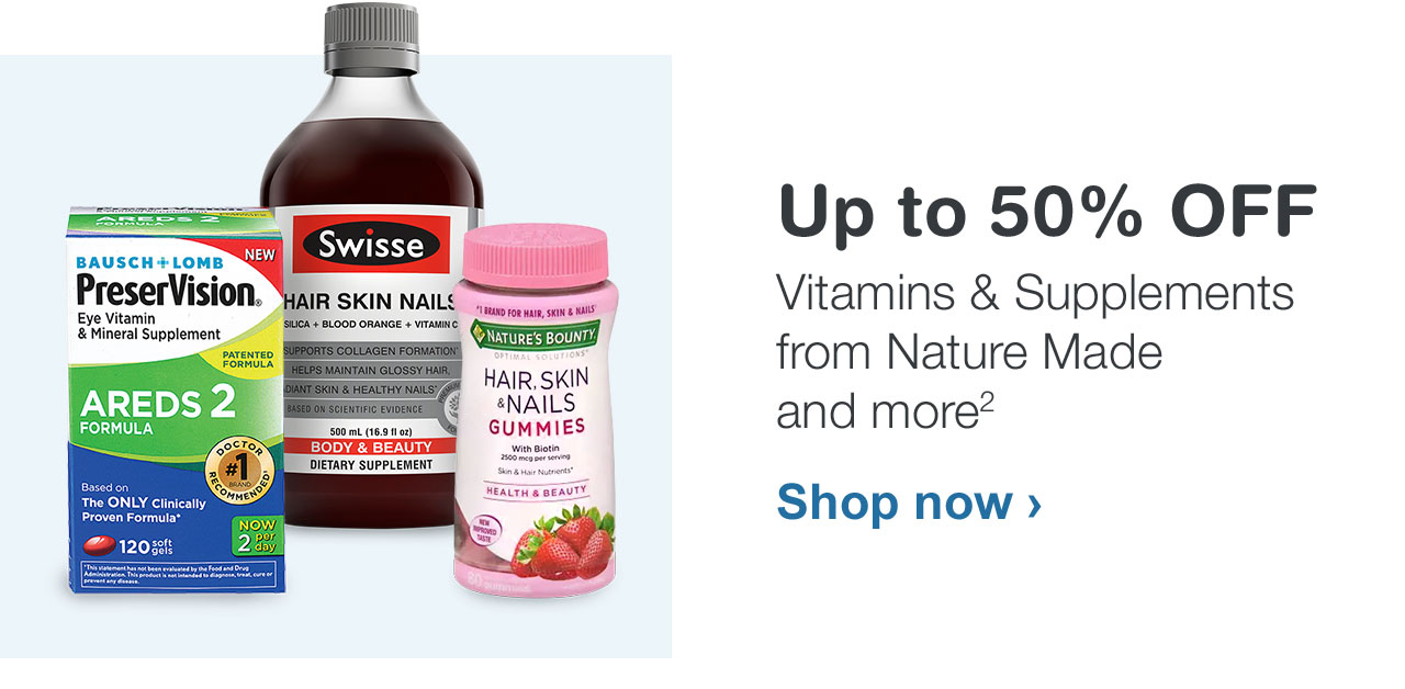 Up to 50% OFF Vitamins & Supplements from Nature Made and more