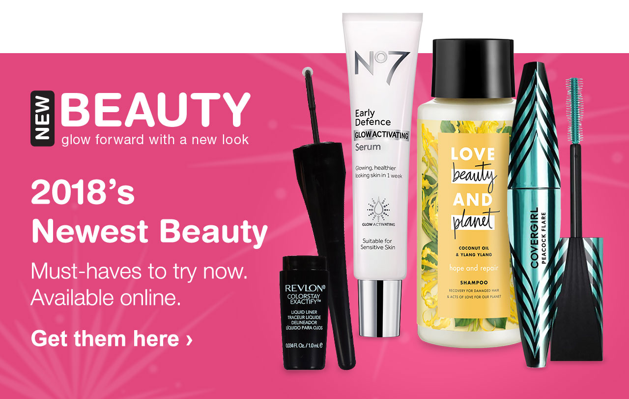2018's Newest Beauty Must-haves to try now. Available online. Get them here