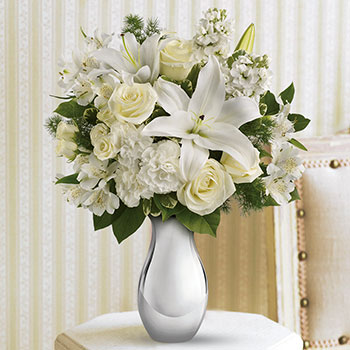 Telefloras Shimmering White Bouquet