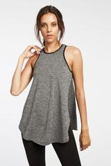 Michi Axial Relaxed Fit Tank - Grey