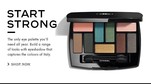 Start Strong. The only eye palette you'll need all year. Build a range of looks with eyeshadow that captures the colours of Italy.
