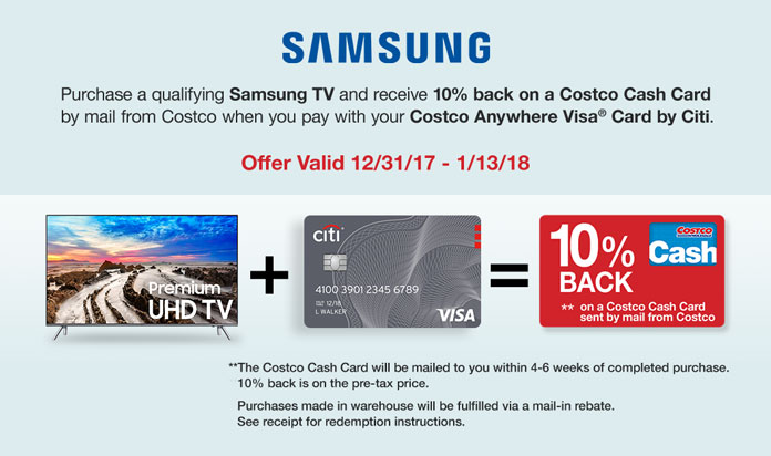 Costo: A Special TV Offer From Samsung Plus New Instant Savings on