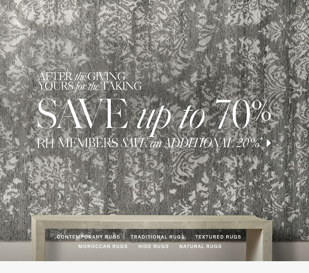 Significant Savings on All Rugs