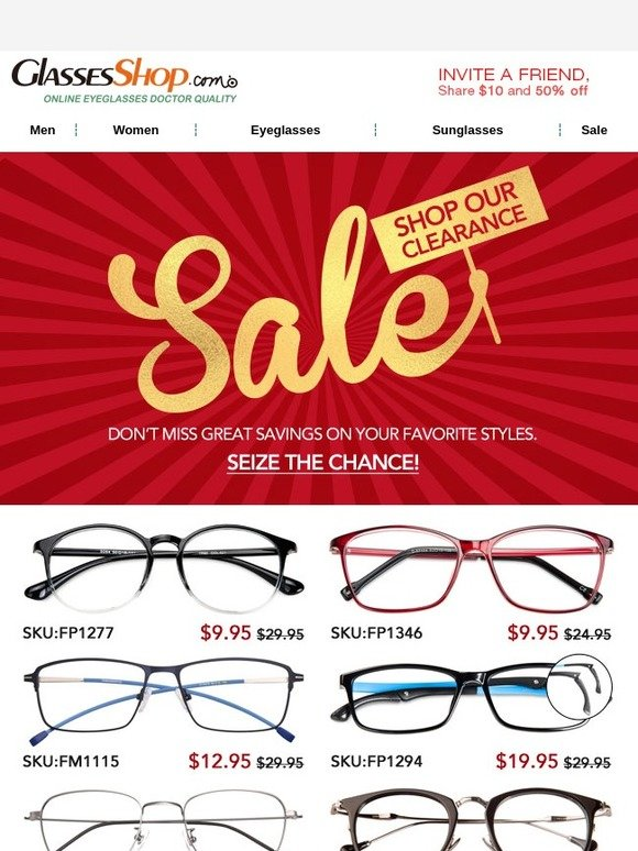 794b72c892a0 GlassesShop.com  CLEARANCE and BOGO FREE! Best weekend ever!