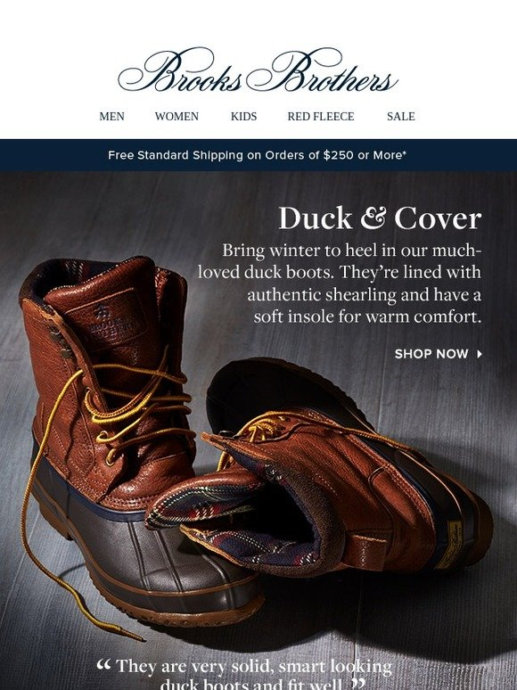 fbff1753808 Brooks Brothers  Duck boot days are here again