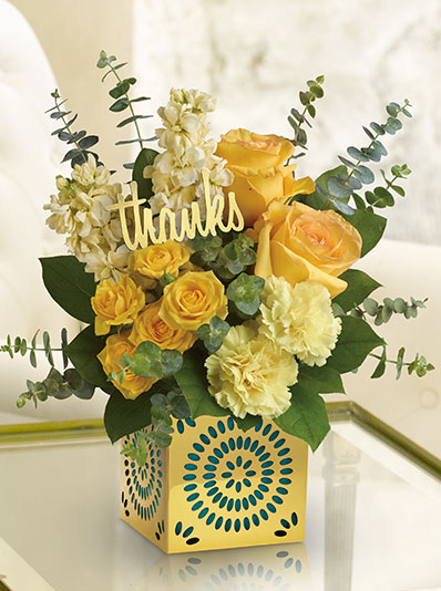 Telefloras Shimmer Of Thanks Bouquet