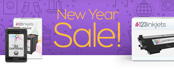 New Year Sale! 17% off Ink and Toner plus Free Shipping