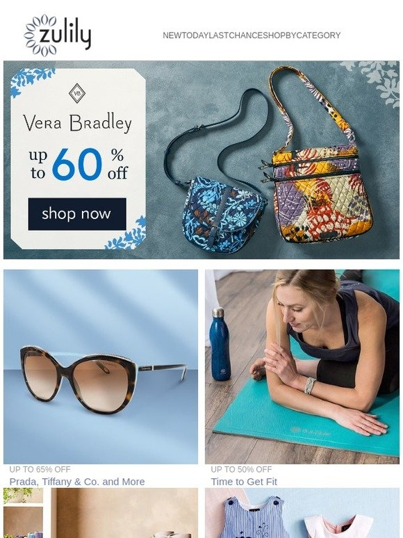 eae2e1af6 Zulily: Vera Bradley | Prada + Tiffany & Co. | Lil Cactus up to 75% off +  Reebok kids | Bella Cora boots | Milled