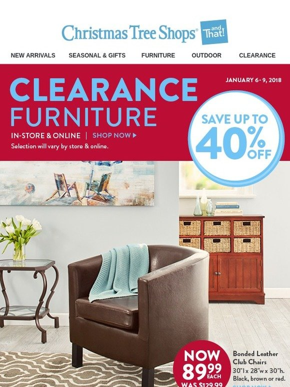 Christmas Tree Shops: Clearance Furniture...In-Store ...