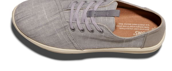Drizzle Grey Textured Chambray Men's Del Rey Sneakers