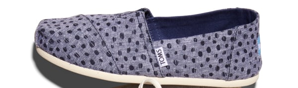 Navy Slub Chambray Dots Women's Classics