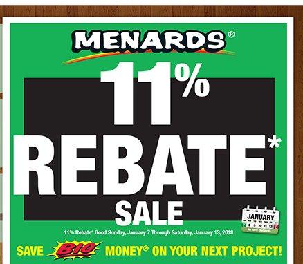 Menards: Get An 11% Rebate On Everything* | Milled