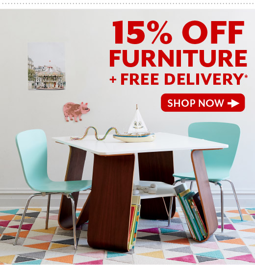 Shop 15% OFF Furniture Plus Free Delivery