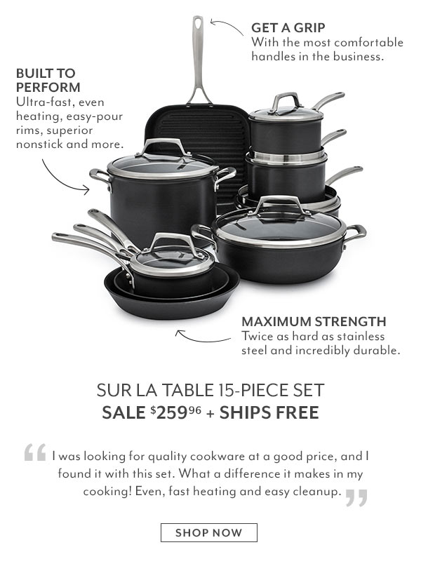 Sur la Table: Today Only: Cookware Set Sale + Cabin Fever Event | Milled