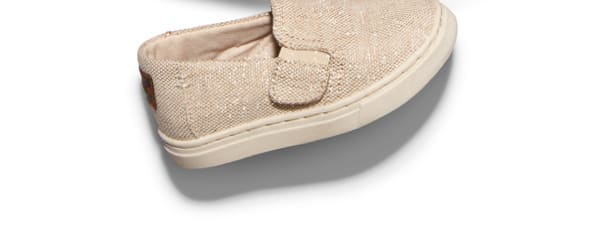 Natural Metallic Jute Tiny TOMS Luca Slip Ons