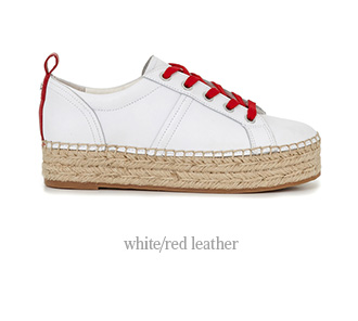 White/Red Leather - Shop Now