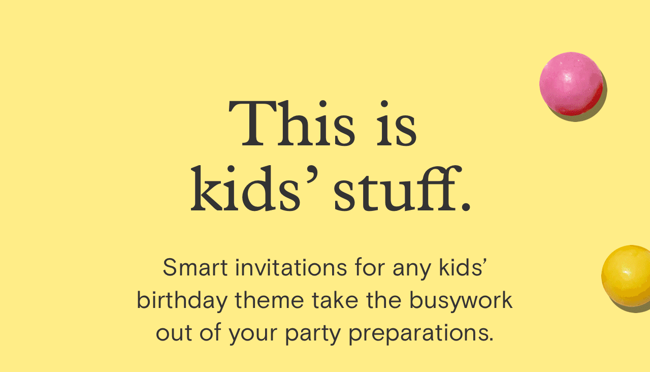 Paperless Post: Kid-simple themed birthday invitations. | Milled