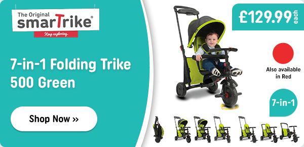 Smart Trike 7-in1 Folding Trike 500 Green