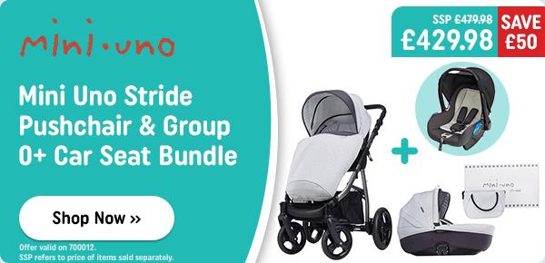 Mini Uno Stride Pushchair & Group 0+ Car Seat Bundle
