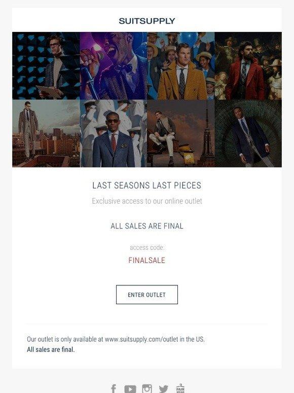 Suitsupply: Last Seasons Last Pieces | Milled
