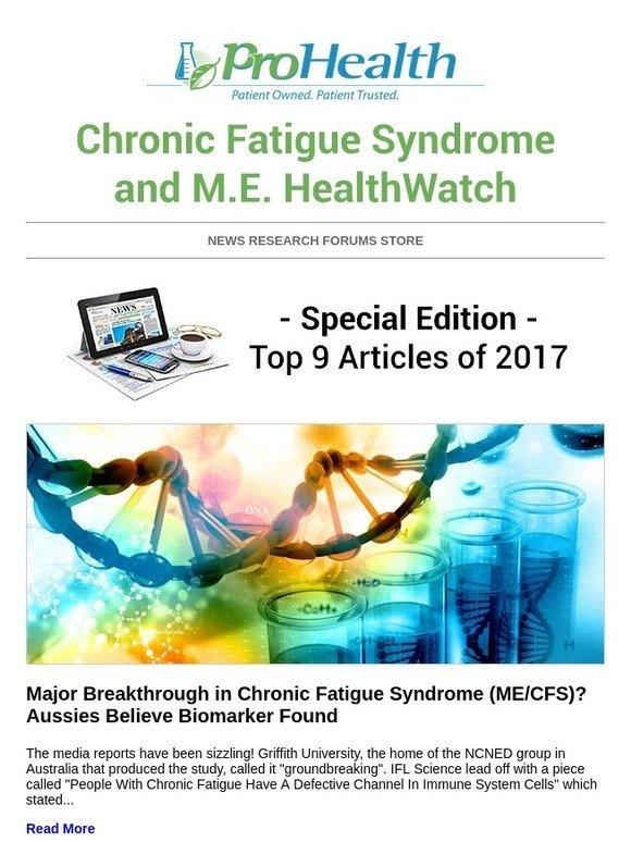ProHealth: ME/CFS HealthWatch [Top 9 of 2017] - Major