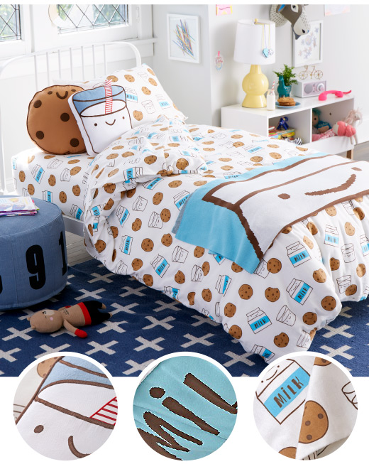 Organic Milk and Cookies Bedding