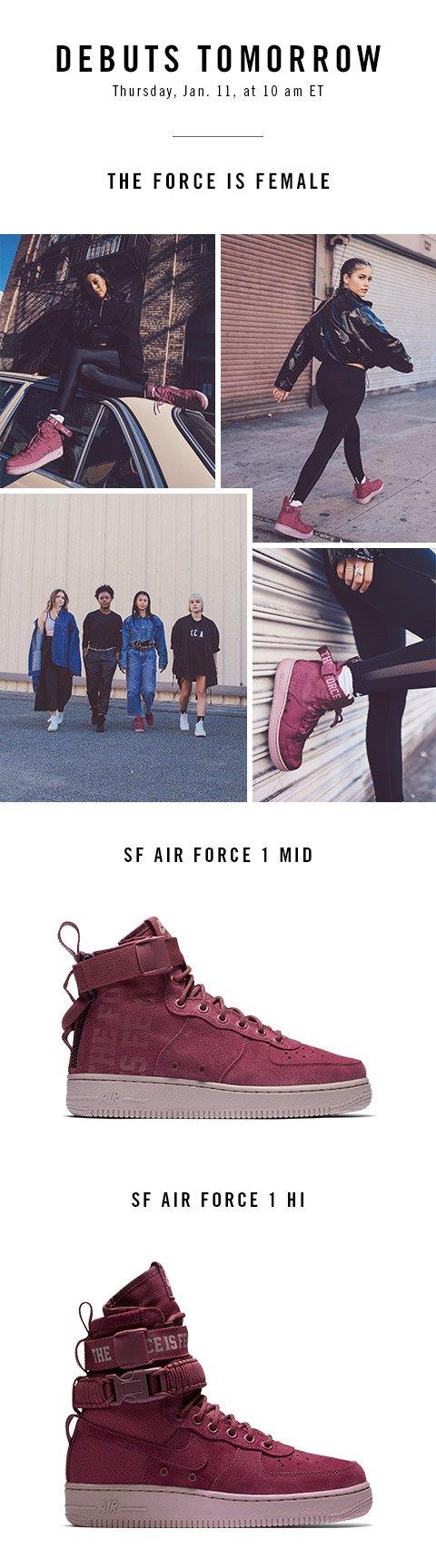 Six:02: Tomorrow! Nike SF Air Force 1 In Vintage Wine & Milled