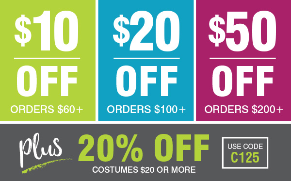 Costume SuperCenter COUPON ALERT $50 Off + Extra 20% Off Costumes! Valuable Savings Inside | Milled  sc 1 st  Milled & Costume SuperCenter: COUPON ALERT: $50 Off + Extra 20% Off Costumes ...