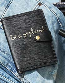 Mallory RFID Passport Wallet in Black