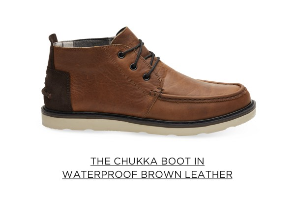 The Chukka Boot in Waterproof Brown Leather