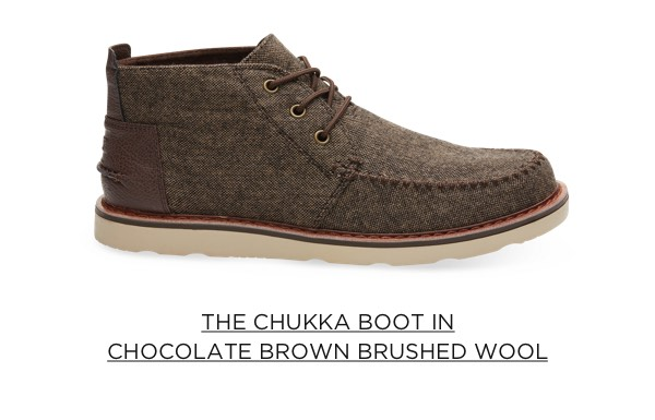 The Chukka Boot in Chocolate Brown Brushed Wool